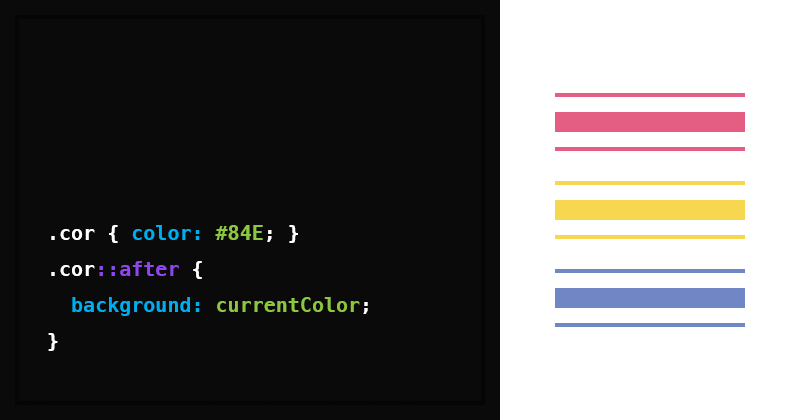 Valor currentColor do CSS